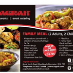 Fantastic Family Meal Deal (2 adults 2 Children ) just £39.95 @AagrahDoncaster #doncasterisgreat #ilovedn http://t.co/uDnj00CFpb