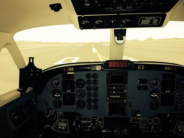 Inside Seneca flight sim. #aviation @SenecaCollege http://t.co/1tGPnC2pqD