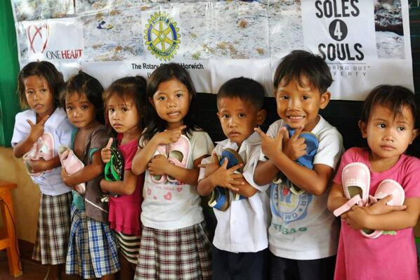 Our partners in the #Philippines recently distributed over 380 pair of shoes to students affected by typhoon #Haiyan! http://t.co/hJbv4EzePK