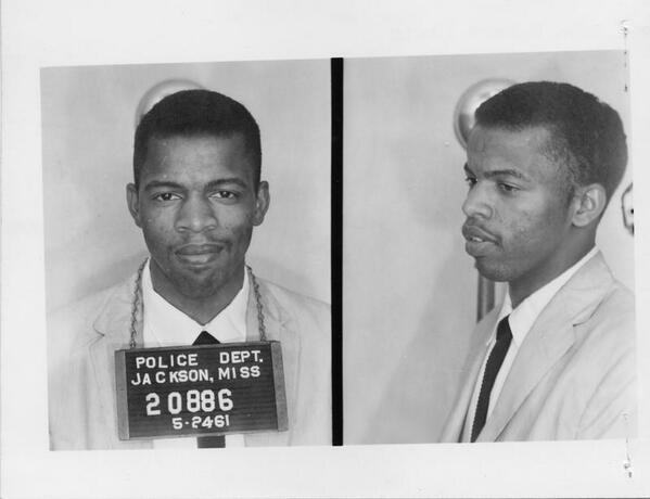 "53 yrs ago today I was released from Parchman Penitentiary after being arrested in Jackson for using ""white"" restroom http://t.co/9QAI4voo1M"