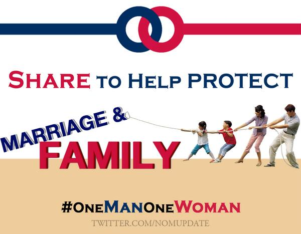 #Marriage = 1 Man + 1 Woman. Retweet if you agree! http://t.co/EOWDmx0TjB
