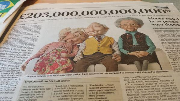 Stat of the Day - £203 trillion What Wonga wld need to pay if its interest rates were applied to cost of compensation http://t.co/otJmh5he56