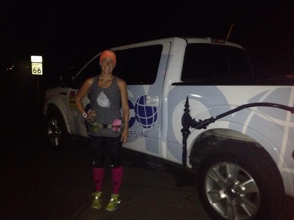 Ashley Kringen (@Ashleykringen): #katieruns4water Were on mile 6, she's on her 4th marathon in 4 days to raise $ & awareness for clean water in Africa http://t.co/yrKal0poRc