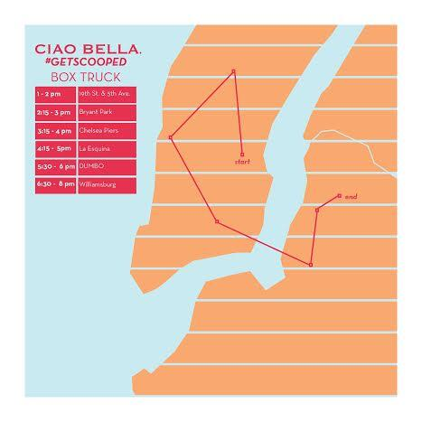 Today we will be handing out free gelato around NYC. Come find us!   #ciaobellagelato #getscooped http://t.co/HsGzw9t5nl