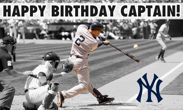 Happy Birthday to our Captain, #DerekJeter!! #Yankees http://t.co/QDDsof7sMt