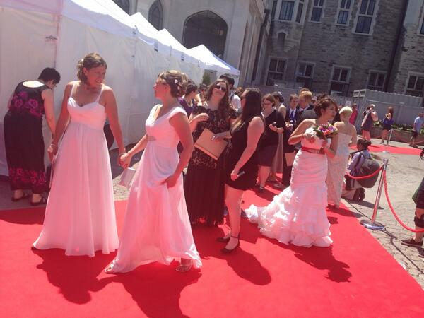 Charlsie Agro (@CBCharlsie): Beautiful people. Beautiful day. @PrideWeddingTO #sl http://t.co/89LyDdRS5W