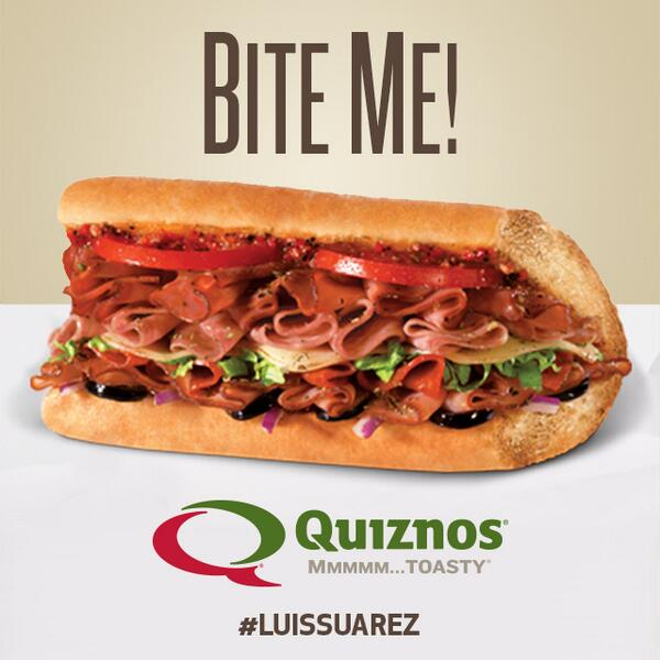 Hey @luis16suarez there are better ways to satisfy your craving for Italian. #ClassicItalian #WorldCup #LuisSuarez http://t.co/wEtTOtfyoL