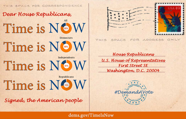 #TBT: 1 yr ago, the Senate passed immigration reform. For 365 days House Rs could have, but didn't, act. #TimeIsNow http://t.co/5wGR6z4O8F