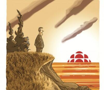 En cette journée de compressions à Radio-Canada, caricature de circonstance d'André-Philippe Côté pour @Lactualite http://t.co/uT82Mx5In4
