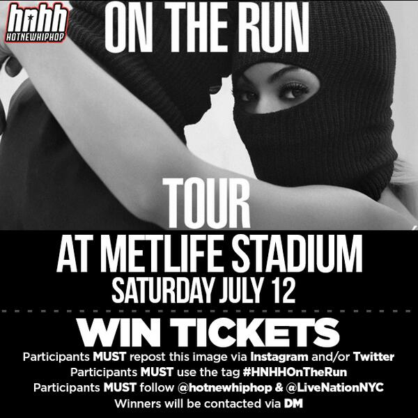 RT : We're giving away a pair of tickets w/ to see Jay Z x #OnTheRun