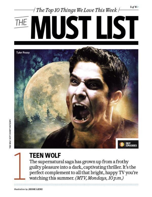 We're blushing, @EW! Thanks for making us number 1! http://t.co/0yO2ykIWov