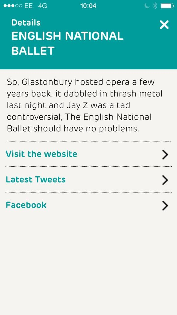 We're up there on the Glasto app! http://t.co/4cVGCrQNMo