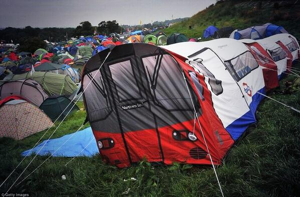 If #TFL did tents, it could look a lot like this one! #Glastonbury @GlastoFest http://t.co/6olwI6d5sI