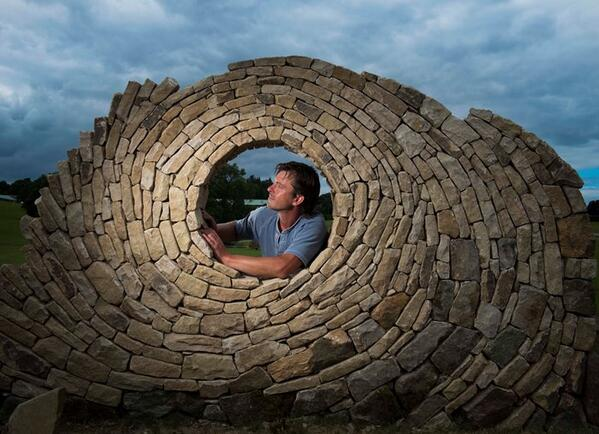 Take a look at what the Yorkshire Dry Stone Walling Guild are building for this year's #GYS (8-10 July) http://t.co/09jh5wlDjh