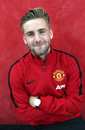 After suffering a terrible leg break in september, luke shaw is eyeing a