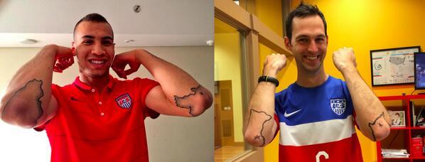 @MenInBlazers who wore it better? Me or @j_brooks25? #SouthDakota #Minnesota #USMNT http://t.co/Dx7JPqfOmH