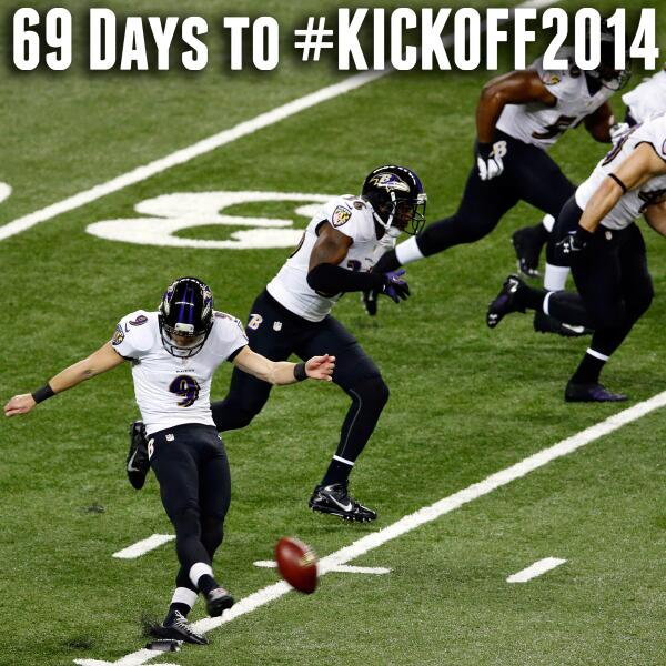 Woo Hoo!! RT @nfl: 69 days... #Kickoff2014 http://t.co/2xVobGxeao