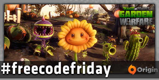 #freecodefriday is here and we've got 5 #PvZGW codes for PC!  To win simply FOLLOW us & RT this message by 4pm PDT. | http://t.co/3YEnIPvGKA
