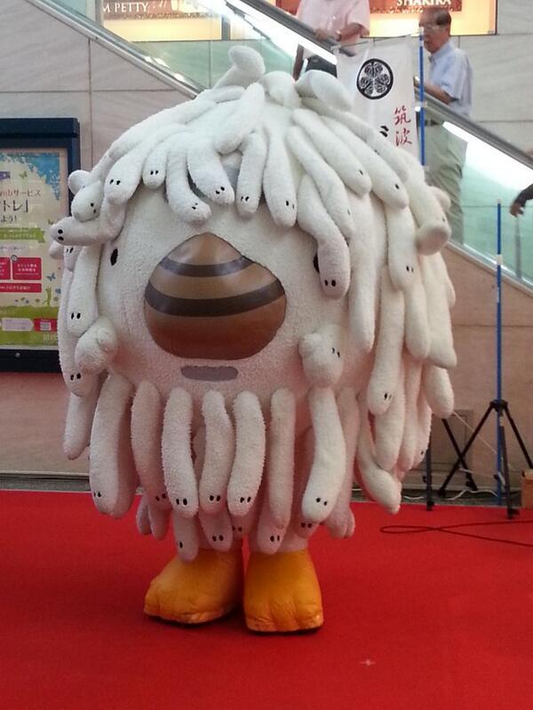 どう見てもクトゥルフ的なナニカ。RT syunnpey: わ~! 大洗のゆるキャラだそうで…。毛はシラス、鼻は蛤とか(´・ω・`) http://t.co/prJLdaYMXj