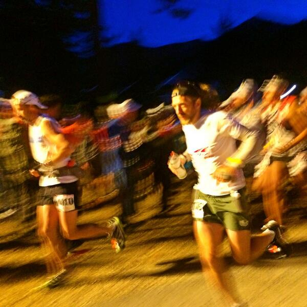 And they're off! #WS100 http://t.co/N95nRae3Mm