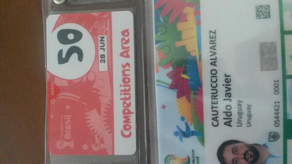Partido 50 del mundial y en Maracana. Vamos que vamos http://t.co/hf6KrcILEf