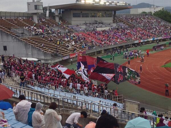 @fleurANTWHARF 岡山サポの皆様の画像送りますね(私は京都サポ) http://t.co/76nOEEoSDX