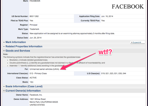 Facebook getting into drones? Sure, makes perfect sense. http://t.co/2bXDfAhCzf