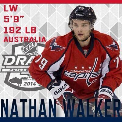 The @WashCaps select @NathanWalks10 w/ the 89th pick.  Congrats Nathan!! First Australian drafted into the NHL. http://t.co/1APafOYx7q
