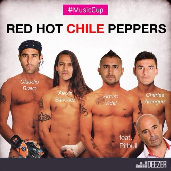 #musiccup Red Hot #CHILE Peppers jajaja http://t.co/v031ppqGnU