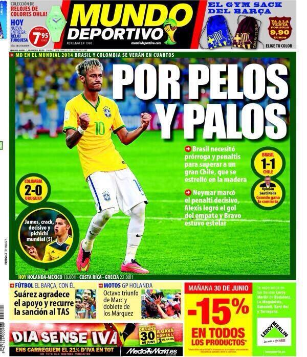 Portada del diario Mundo Deportivo:  #FT http://t.co/6zaU8ufQIC