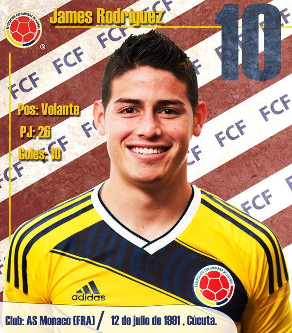 Números de @jamesdrodriguez con la camiseta de #COL: http://t.co/LbH3vGqOZr