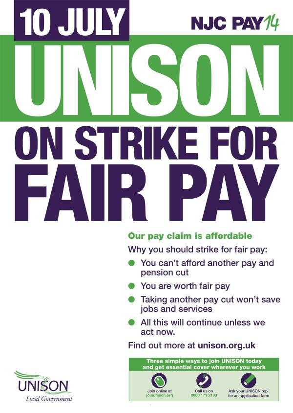 Council and school workers are the lowest paid in the public sector - 77% are women. Join the #J10 strike. http://t.co/1uho3Of3Gg
