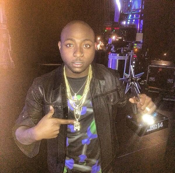 Congratulations to @iam_Davido for winning the BET Awards for Best African Act 2014! #betawards2014 http://t.co/naXkZKu12n