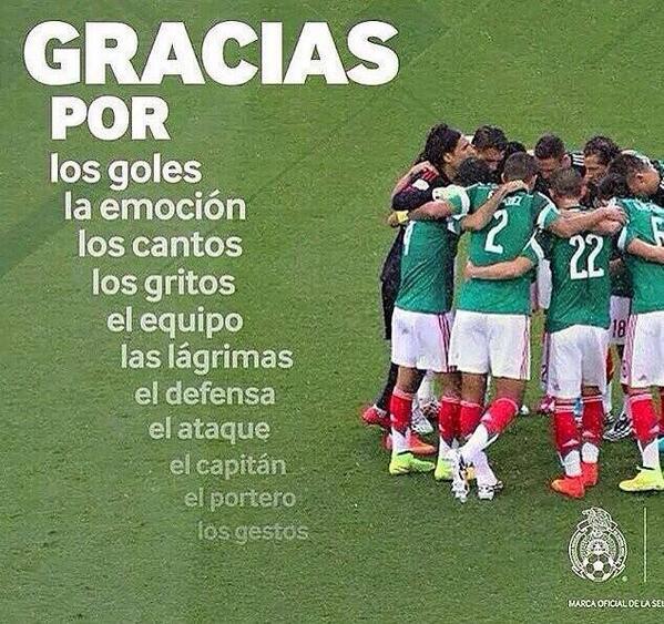 Que orgullo de equipo #MEX !! Gran juego de @miseleccionmx http://t.co/SxsnQ67JL0