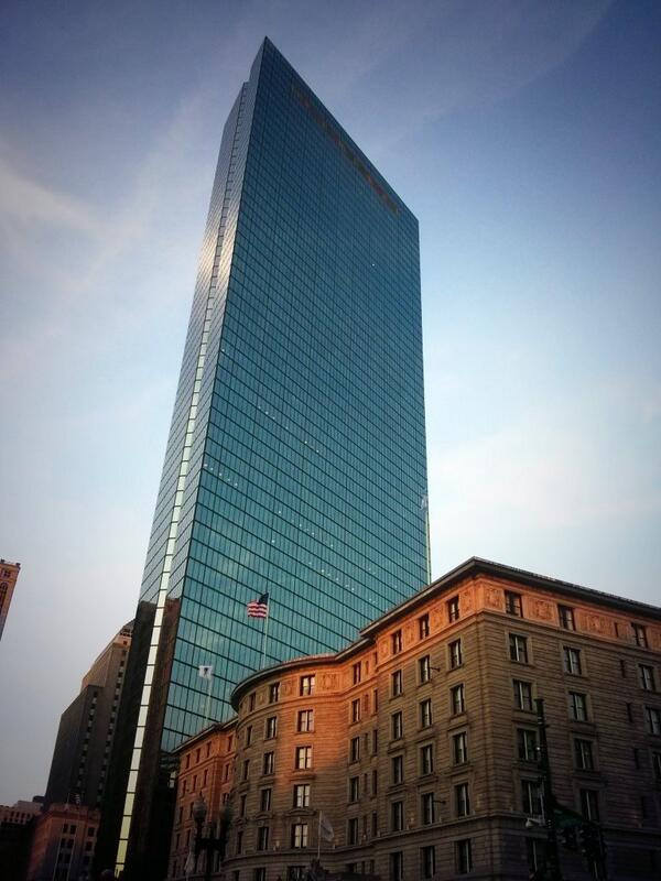 John Hancock Tower #boston #backbay http://t.co/xhhFuncHj9