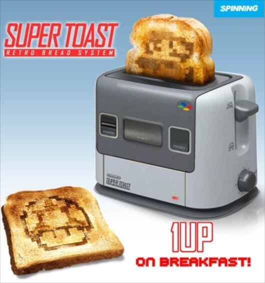 ごはん派だけどこれは欲しい:商品化、熱烈希望!ドット絵トーストが作れる「スーファミ」型トースター <http://t.co/wifqEMCOgM> http://t.co/wXai4VTMFp