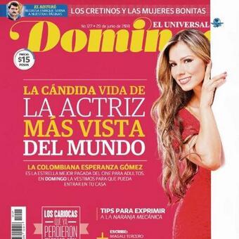 RT @SORRENTODESIREN: Muchas gracias a la revista @Domingo_Univ x la portada de @esperanzaxxx y la buena