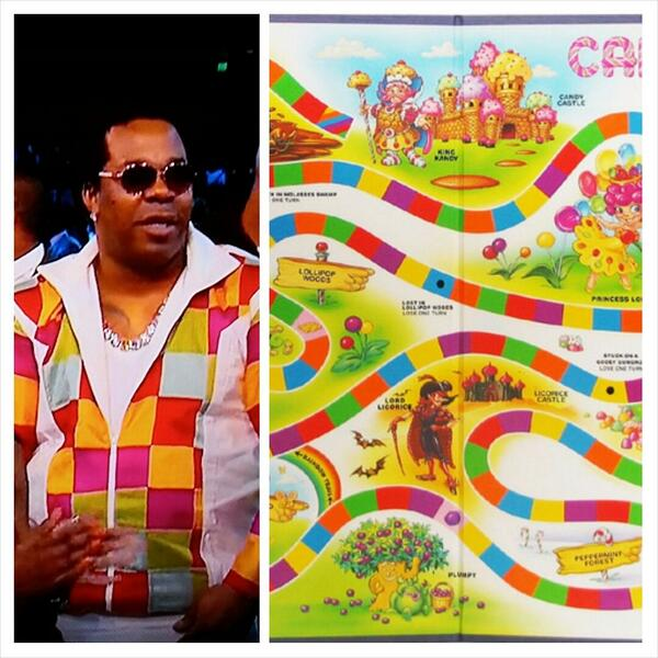 Why Busta Rhymes jacket look like the Candyland Board #BETAwards http://t.co/BRUAJCPHW2