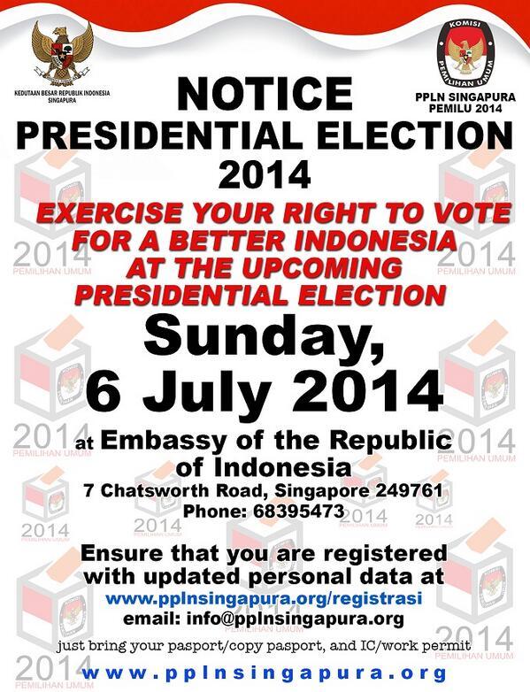 Minggu tanggal 6 Juli ini kita bakal ada Pemilu Presiden! Ngga lupa kaan? ;) http://t.co/62IUuc04e8