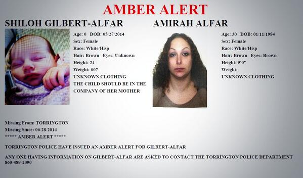 If you're just waking up, there's an #AmberAlert out of Torrington. http://t.co/RdloIdOkHY