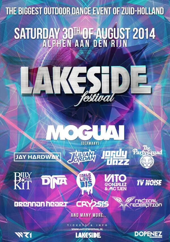 Nog iets minder dan 2 maanden! Retweet deze poster en maak kans op 2 tickets voor #Lakeside2014 http://t.co/BmOg22D0xL