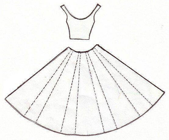 Платье своими руками для открытки