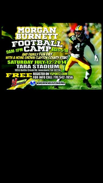 It's that time of year 3rd Annual Youth Football Camp July 12th at Tara Stadium #fun #free http://t.co/6StGLL5GqO