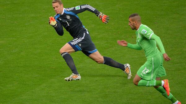 BrZ VYgCYAEj7Un Germany keeper Manuel Neuer had 21 touches outside of the box v Algeria