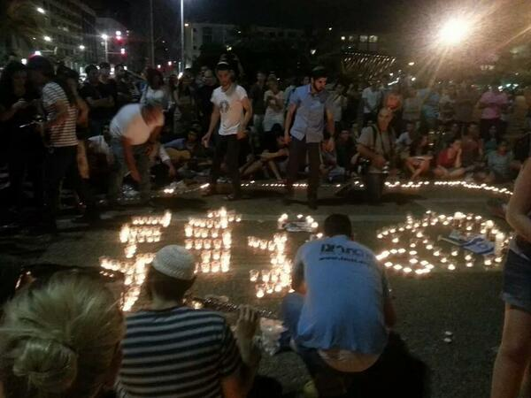 Tel Aviv mourns. Unbelievable to see the unity in this country during hard times. http://t.co/pSvh1rTCX3