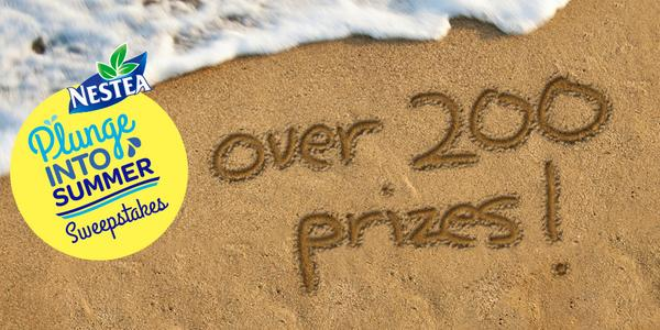 200+ PRIZES! #NesteaPlunge into summer's most refreshing Sweeps! http://t.co/pJIUMCaCO7 (Ends 8/30/14) http://t.co/9DT53qmxa1