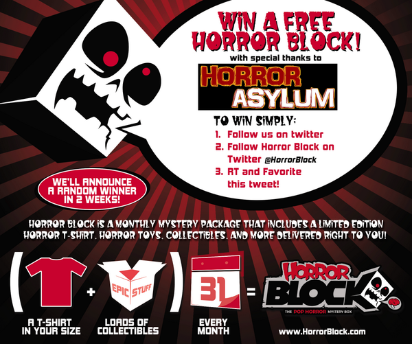 WIN a FREE HORROR BLOCK. A special mystery package of horror goodies! RT & FOLLOW @HorrorBlock to ENTER! #horrorblock http://t.co/nvkrWNEnO8