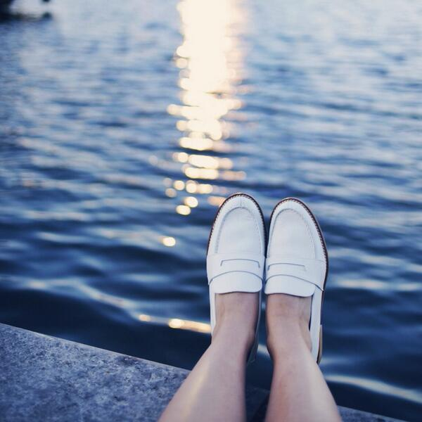 Watching the sunset in my new favourite @mango loafers