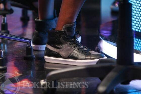 What  does the world's best poker player @philivey wear for a $1m tourney? @LouisVuitton Tower Sneaker obv #nicekicks http://t.co/XrQJrxfnf1