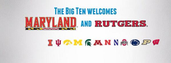 What a great day for the #B1G. RT to help us officially welcome @RUAthletics & @umterps to the conference. http://t.co/NNWdQzVgFk